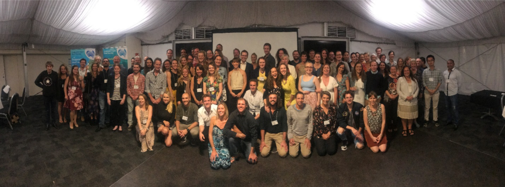 Participants of the 92nd Annual Conference of the Australian Coral Reef Society, May 7-9th, Moreton Island, Queensland (photo credit: Dr Russell Kelley)